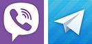 viber & telegram logo